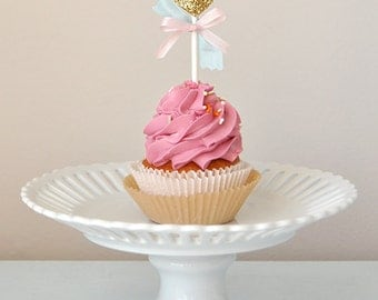Unicorn Kisses Cupcake Toppers