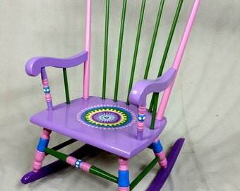 Child's Rocking Chair- Custom Hand Painted Furniture Made to order