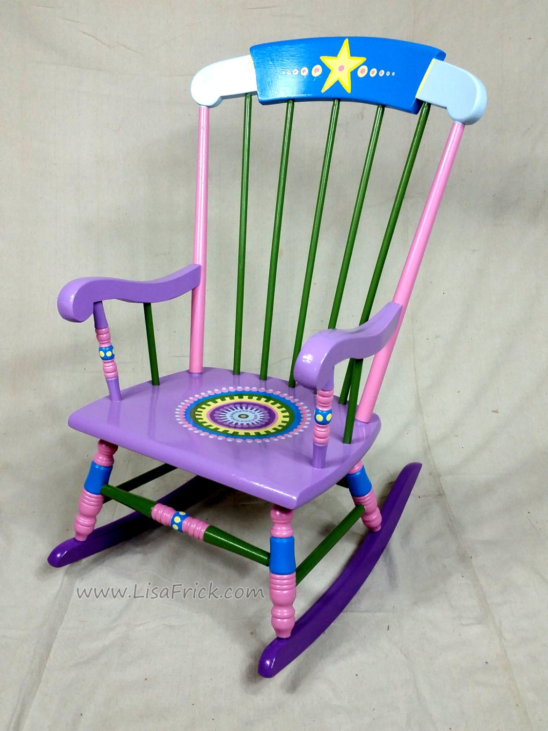 Childs Rocking Chair Custom Hand Painted Furniture Made