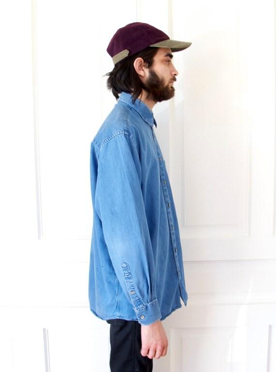 90s Corduroy Color Block Baseball Cap / Men's Minimal Hat