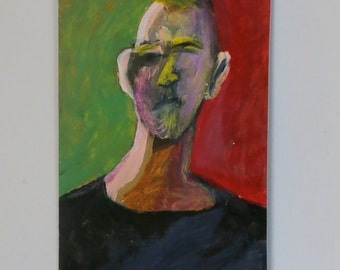 Original Painting - 'Man with the Mustard Hair' by Peter Mack