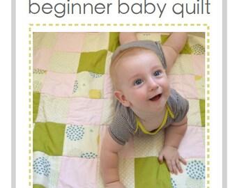 Beginner Baby Quilt Pattern - PDF pattern