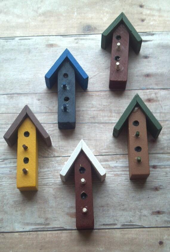 Miniature Wooden Bird Houses Assorted Colors Craft