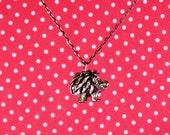 "Hedgehog 18"" Charm Necklace"