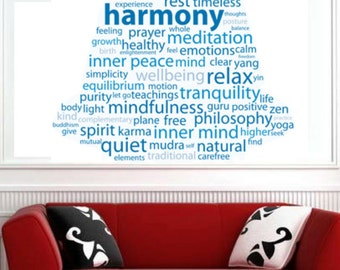 Buddha Quotes Religon Color People Text - Vinyl Wall Decal Full Color Sticker Decor Removable Art Mural www.uBerDecals.ca B254