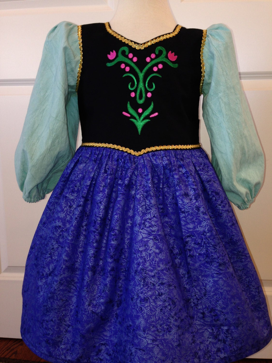 Frozen inspired princess anna anna dress by theresafeller on etsy