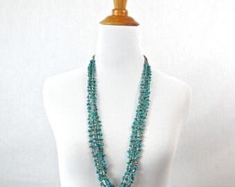 Vintage Navajo Turquoise Ceremony Necklace