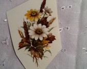 "Vintage Water Slide off Decals Daisies Floral Cottage Chic Transfers 3.5"" x 2"" Waterslide Yellow & white flowers"