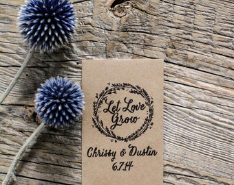 75 Customized Eco-Friendly Let Love Grow Wedding Seed Favor Envelopes