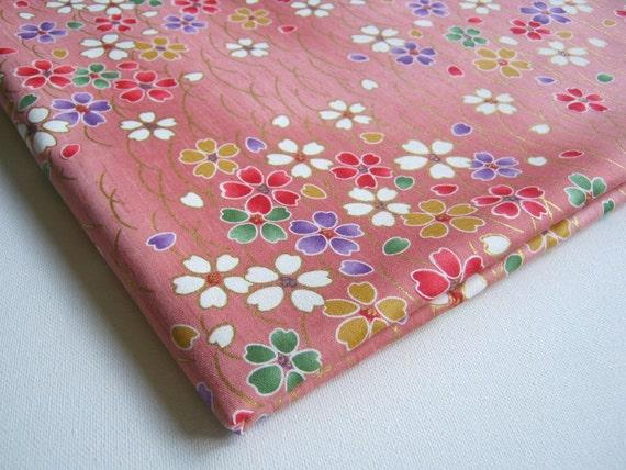 Fabulous Colorful Sakura, Japanese Kimono Cotton Fabric Sweet Pink ...