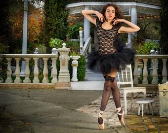 Adult tutu, black tutu, rave raver tutu, gogo dancer, steampunk clothes, Goth gothic tutu clothes