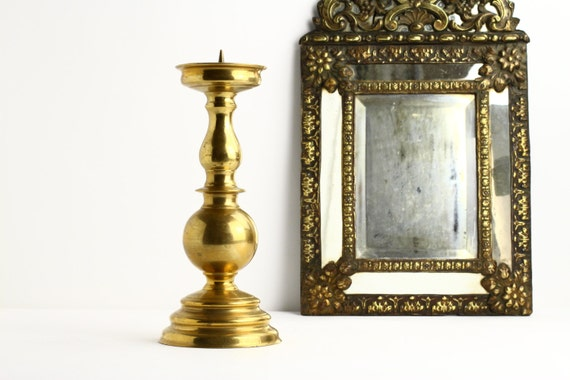 large vintage french church candle holder vintage brass With kitchen cabinets lowes with brass church candle holders