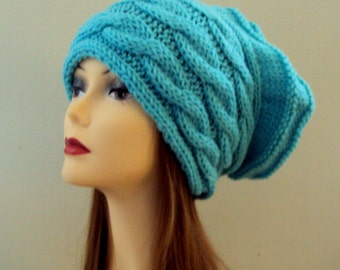Super Slouchy Beanie Oversized Cable Knit Hat Baggy Hat Chunky Hat Knit Winter Hat