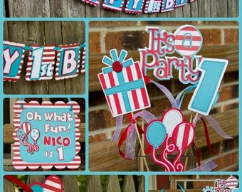 Dr. Suess Themed Birthday Decorations Package