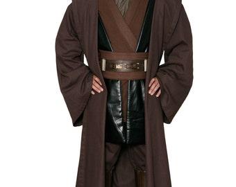 Star Wars Anakin Skywalker Replica Jedi Costume Body Tunic with Replica Dark Brown Jedi Robe