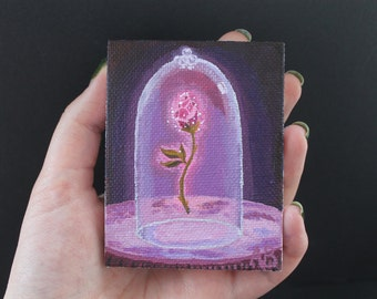 Enchanted Rose mini canvas