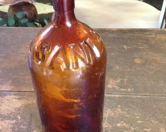 Vintage Bottle Brown Glass Bottle No. 2