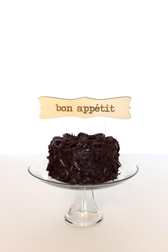 25% OFF: Wedding Cake Topper bon appétit by hostandtoaststudio