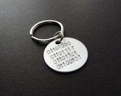 Boyfriend gift, Binary code keychain, New homeowner, Secret message for men, Unisex, Love, Home