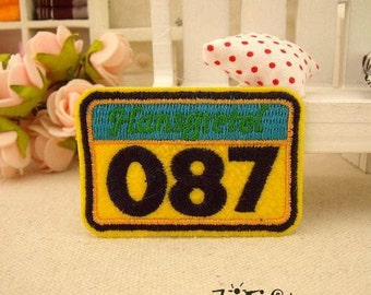 Fshion Brand NO. 087 Iron On Number Patches CB207-5