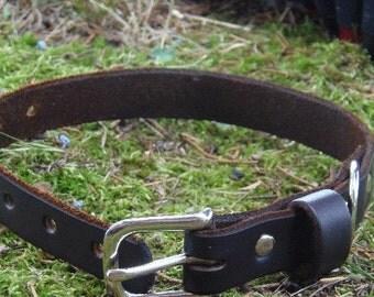 SALE! 25% Off! *Small/Medium Leather Dog Collar*