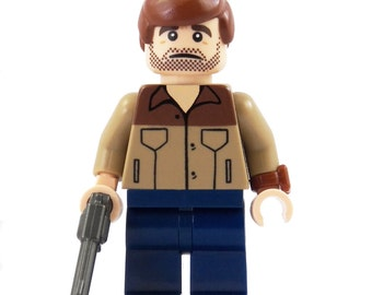 Rick - Zombie Hunters Series 1 - miniBIGS Custom Figure made from Genuine LEGO Minifigure Elements