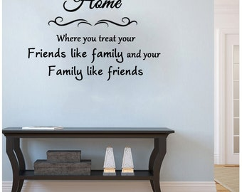 Home Where You Treat Your Friends Like Family-25X18