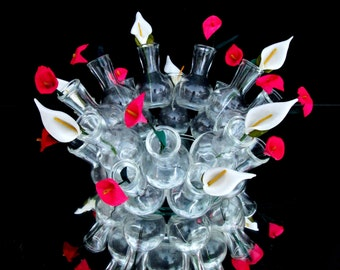 Vintage Glass 28 Vase Centerpiece || Hors D' Oeuvres Server | Horticulture Institute of California