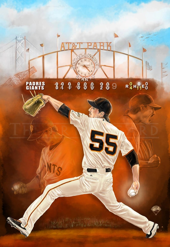 Digital Drawing of Tim Lincecum's 2014 No-hitter