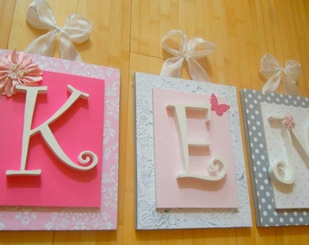Nursery letters,custom initials,personalized letters,initials,wood letters,baby gift,custom nursery letters,custom wood letters,shower gift