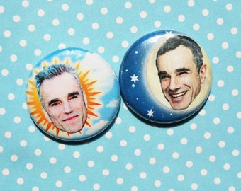 Daniel Day-and-Night Lewis- One Inch Pinback Button Magnet Set