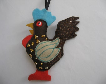 Heart Felt Farm Animals - From the Chicken Coop, here's Richard  the Rooster!