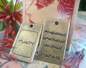 Purity Pendant,word charm,Well-being word charm,spiritually,physically,mentally words,