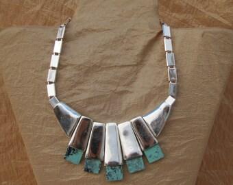 Indian Necklace Unique Necklace for Women Exotic Necklace Bohemian Necklace Tribal Necklace Ethnic Necklace Nomad Necklace Metal Necklace