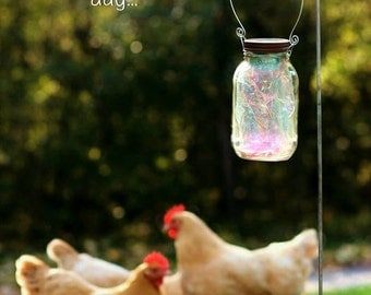 Valentine Gift - Mason Jar Solar Light - Fairy Lantern - Garden Decor - Garden Lighting - Outdoor Lighting - Fairy Lights - Fairy Garden