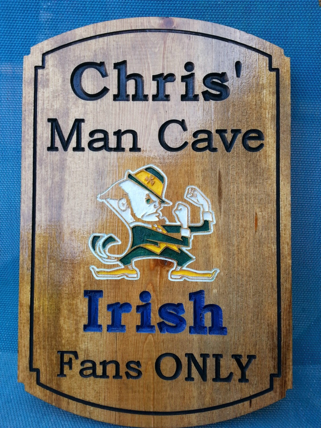 Personalized Man Cave Signs Etsy : Man cave ncaa college team sign custom by ocwoodcreations