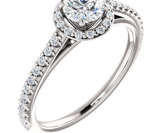 The Classic Halo - 14k & GIA Diamonds