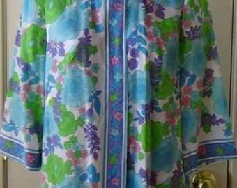 60s, 70s, lounging shirt, lounging top, Evelyn Pearson, pajama shirt, pajama top, vintage