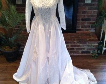 vintage 1962 wedding dress old hollywood mad men jackie o princess bride