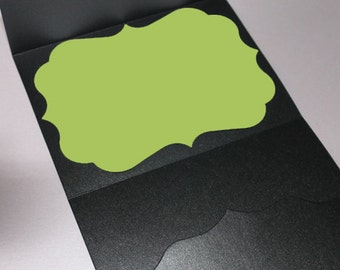 Bracket Card - Non Metallic - 35/set | A7 Blank Cards (B) | Chipboard Bracket Cards | Bracket Invitation