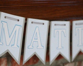 Blue Whale Baby Banner Baby Blue and White Whale Banner for Baby Shower Banner