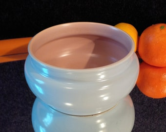Poole Twintone Peach Bloom and Mist Blue bowl