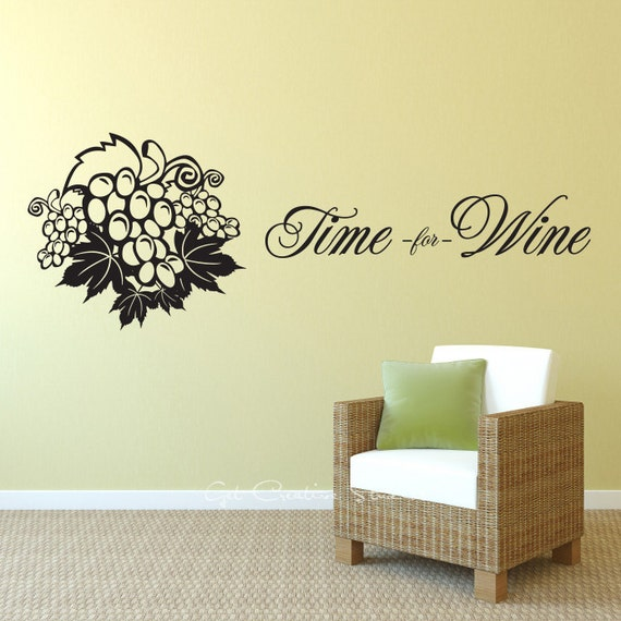 wine decal vino cafe vineyard home decor wine decal red drink