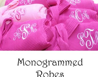 Personalized Bridesmaid Robe Set of 12 ,Monogrammed Robe, Waffle Robe, Personalized Bridesmaid Gifts