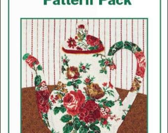 Teapots to Appliqué Pattern Pack, Teapot Patterns