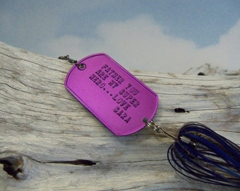 Personalized Fathers Day Gift for Dad Embossed Dog Tag Fishing Lure Gift for Husband Mens Gift for Him Mens Birthday Gift Unique Gift Father