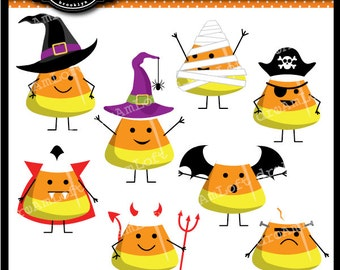 Halloween Costume Candy Corn Costume Characters Digital Clip Art for Personal and Commercial Use