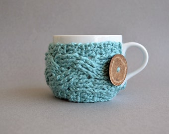 Crochet Pattern, Crochet Coffee Cozy, Crochet Coffee Sleeve, Crochet Pattern Decor, Crochet Tea Cozy, Crochet Cup Cozy, Crochet Mug Cozy