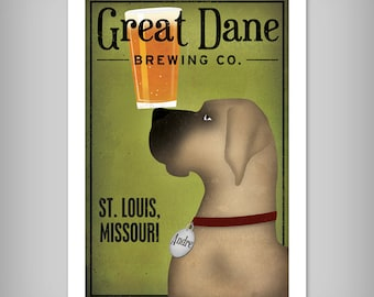 GREAT DANE Beer Brewing Company Custom Personalized Print