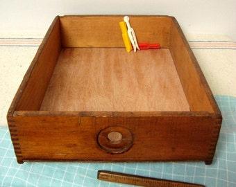 Wood Drawer Vintage Box Display Storage 15 x 11 Caddy Tray
